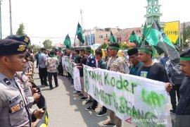 Pelantikan anggota DPRK Lhokseumawe diwarnai demo HMI