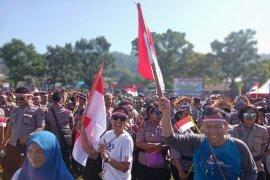 Belasan ribu warga turun ke jalan  dukung Deklarasi Damai Manokwari