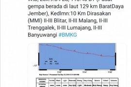 Gempa 4,8 SR guncang Jember