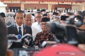 BJ Habibie Wafat,  Presiden melayat dan ajak masyarakat doakan almarhum