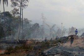 Kebakaran di Badui, 50 rumah rata dengan tanah dan puluhan warga mengungsi