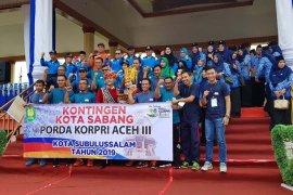 Kota Sabang raih medali emas pada Pora Kopri Aceh KE-III