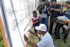 Warga Jayapura  deklarasi kesepakatan jaga kedamaian