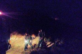 Kebakaran lahan terjadi di lereng Gunung Klotok Kediri