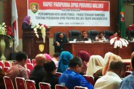 Delapan fraksi DPRD Maluku setujui penetapan APBD Perubahan 2019