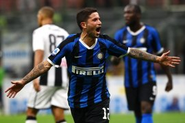 Inter Milan rebut posisi puncak usai tundukkan 10 pemain Udinese