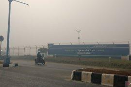 Bandara Syamsudin Noor Kalsel kembali dikepung asap