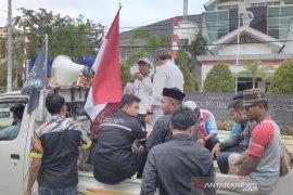 Massa Gempar demo PTUN terkait gugatan Bupati  Simeulue