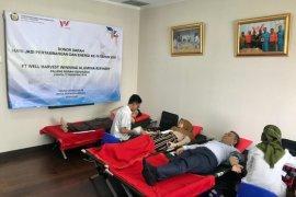 Karyawan PT WHW donor darah peringati Hari Jadi Pertambangan dan Energi ke 74