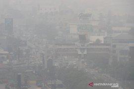 Kota Banjarmasin Terpapar Kabut Asap Karhutla