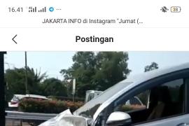 Akibat truk tanki berhenti mendadak, terjadi tabrakan beruntun di Tol Jakarta-Tangerang