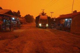 Dua desa di Jambi memerah karena kabut asap dan karhutla