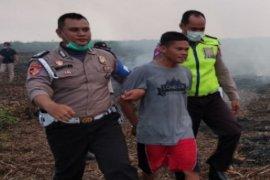 Pelaku pembakar lahan tertangkap polisi di Kalsel