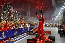 Vettel akhiri puasa kemenangan juarai GP Singapura