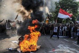 Aksi Unjuk Rasa Mahasiswa Jawa Barat