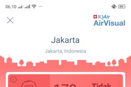 Selasa pagi, kualitas udara Jakarta tidak sehat