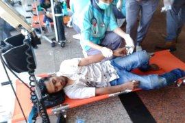 Wartawan ANTARA jadi korban saat liput demo mahasiswa Makassar