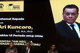 Prof Ari Kuncoro terpilih sebagai Rektor UI 2019-2024