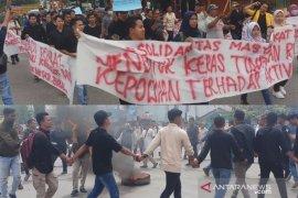 Mahasiswa-Pemuda Tanjungbalai kutuk tindakan refresif aparat