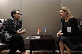 Menlu RI membahas isu ekonomi, perempuan dalam rangkaian bilateral di PBB