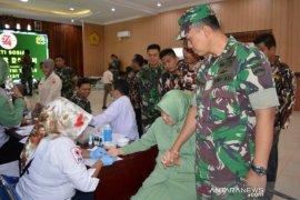 Jelang HUT TNI ke-74, Kodim 0212 gelar donor darah