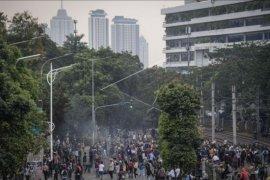 Aksi pelajar di Jakarta ricuh