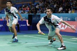 Markus/Kevin lawan Fajar/Rian di perempat final, pastikan satu tiket semifinal Korea Open