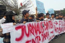 Kecam kekerasan terhadap jurnalis, wartawan Banten gelar aksi damai