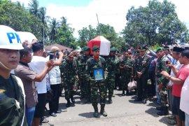 Anggota TNI tewas di Papua dimakamkan ke kampung halamannya di Tidore Kepulauan