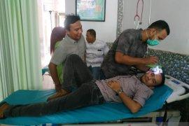 Seorang anggota DPRK Aceh Barat terluka terkena lemparan