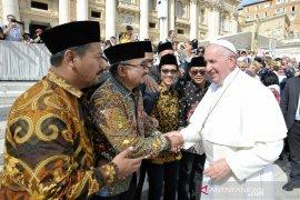 Ansor sampaikan dokumen Deklarasi Islam untuk Kemanusiaan kepada Paus di Vatikan