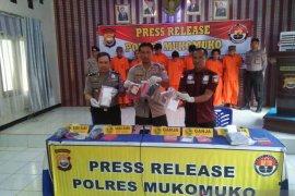 Polres Mukomuko ungkap empat kasus penyalahgunaan narkotika