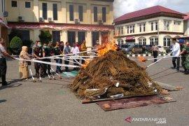 Polres Lhokseumawe musnahkan ratusan kilogram narkoba