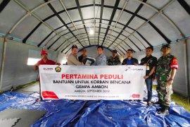 Pertamina serahkan bantuan ke pengungsi gempa Ambon