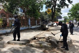 Olah TKP penembakan mahasiswa Universitas Haluoleo