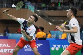 Fajar/Rian juara ganda putra di Korea Open 2019