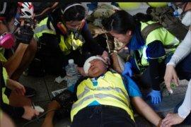 Wartawan Indonesia tertembak saat liput demonstrasi di Hong Kong