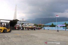 Jajaran  Lanud Silas Papare evakuasi 5.588 pengungsi dari Wamena ke Jayapura