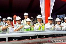Menteri BUMN resmikan pemasangan girder pertama kereta cepat Jakarta-Bandung