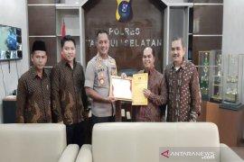 KPU berikan penghargaan kepada Polres Tapanuli Selatan