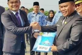 Peringatan kesaktian Pancasila, Pemkab Labusel dan KPU tandatangani NPHD
