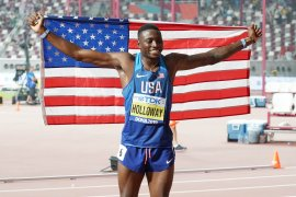 Kejuaraan dunia atletik, Grant Holloway rajai lari halang rintang 110m putra