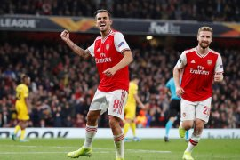 Liga Eropa, Arsenal gilas Liege, Frankfurt curi tiga poin dari Guimaraes