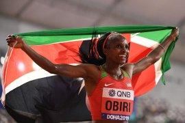 Kejuaraan dunia atletik, Hellen Obiri pertahankan predikat juara dunia 5.000vm putri