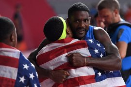 Justin Gatlin akhirnya sabet medali emas Kejuaraan Dunia Atletik