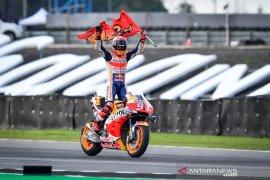 Marquez kunci gelar juara dunia di GP Thailand