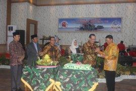 Korem 042/Gapu gelar syukuran dalam rangka HUT ke-74 TNI