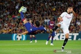 Liga Spanyol, Barcelona lumat Sevilla 4-0 meski dua pemainnya diusir wasit