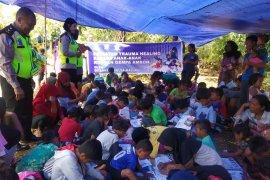 Ditlantas Polda Maluku lakukan pemulihan trauma  anak korban gempa