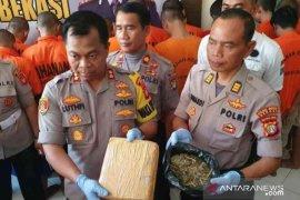 Polres Metro Bekasi tahan 35 pelaku penyalahgunaan narkoba